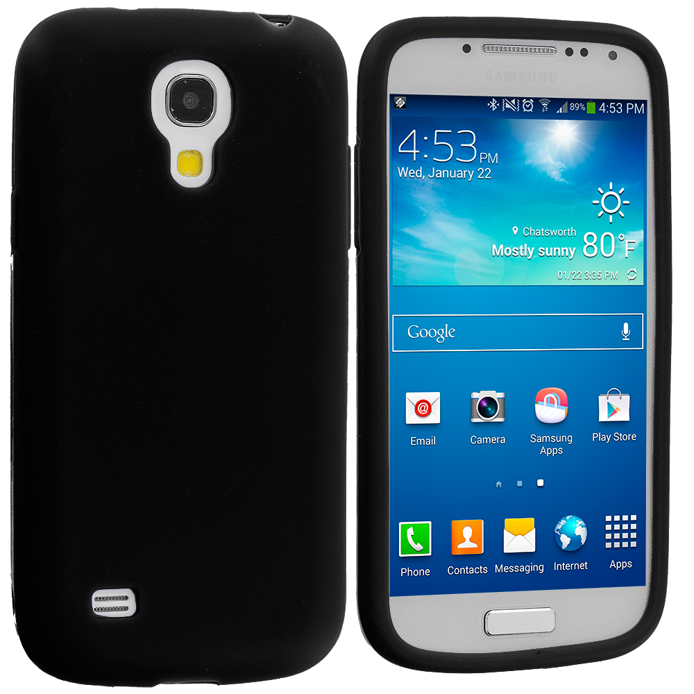 Samsung Galaxy S4 Mini i9190 Black Silicone Soft Skin Case Cover