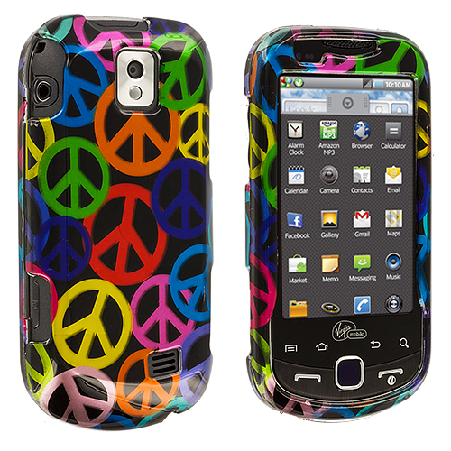 Samsung Intercept i910 Peace Sign Design Crystal Hard Case Cover