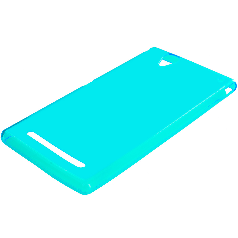 Sony Xperia T2 Ultra D5303 Baby Blue TPU Rubber Skin Case Cover