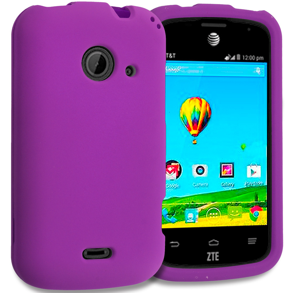 ZTE Zinger Prelude 2 Z667 Purple Hard Rubberized Case Cover