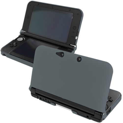 New 2015 Nintendo 3DS XL Gray Hard Rubberized Case Cover