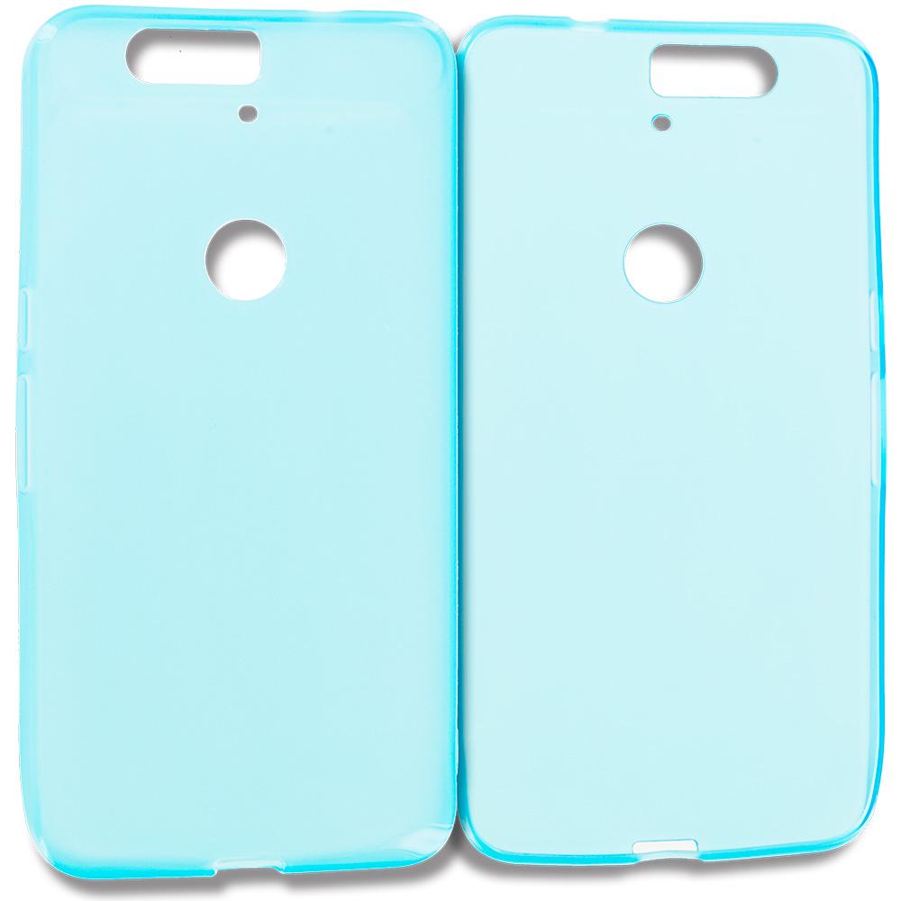 Huawei Google Nexus 6P Baby Blue TPU Rubber Skin Case Cover