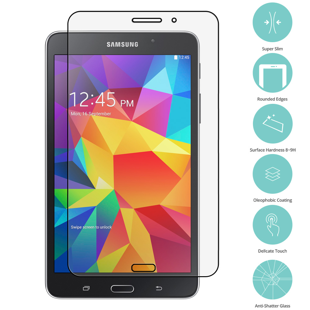 Samsung Galaxy Tab 4 7.0 Clear Tempered Glass Film Screen Protector Clear