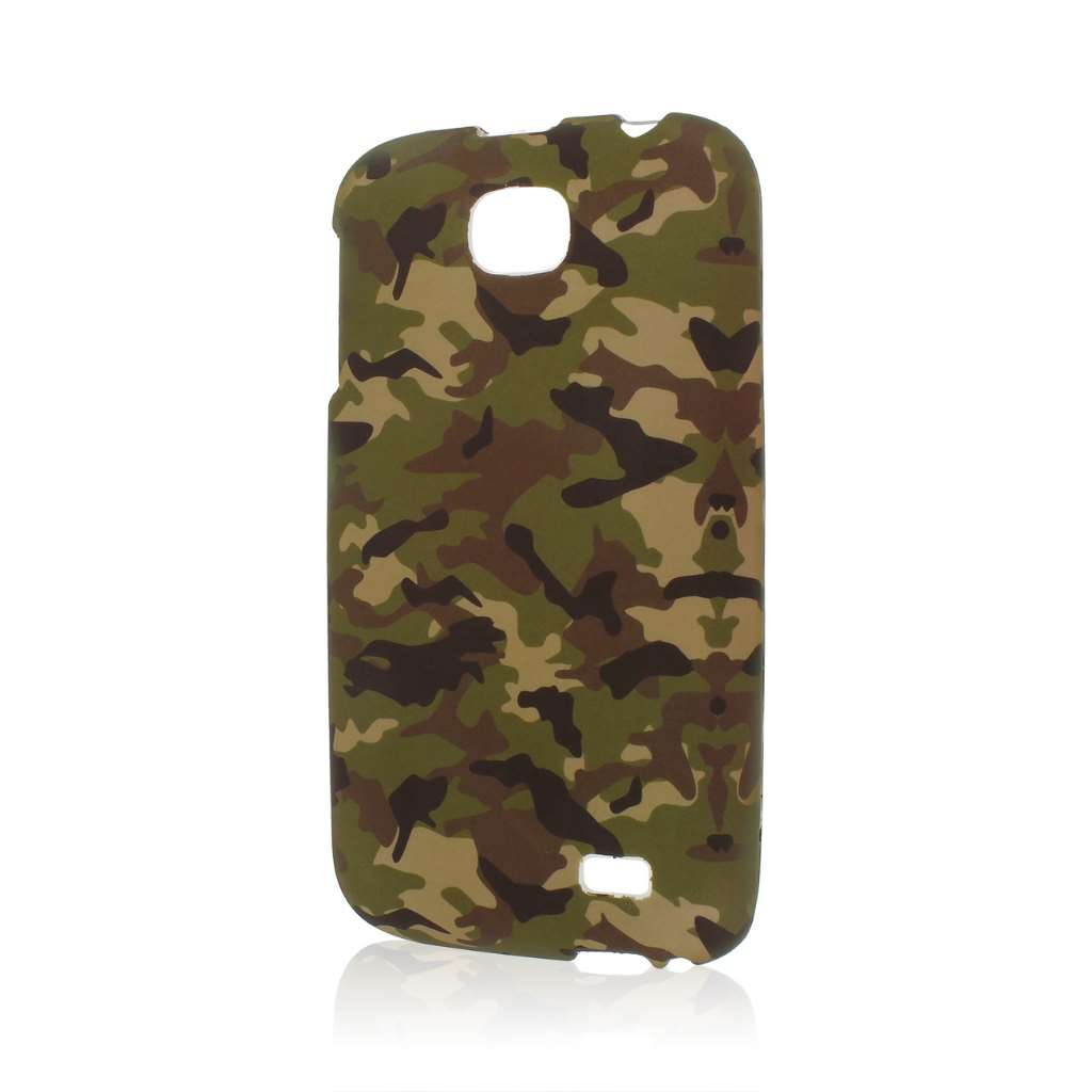 BLU Studio 5.3 II - Green Camo MPERO SNAPZ - Rubberized Case Cover