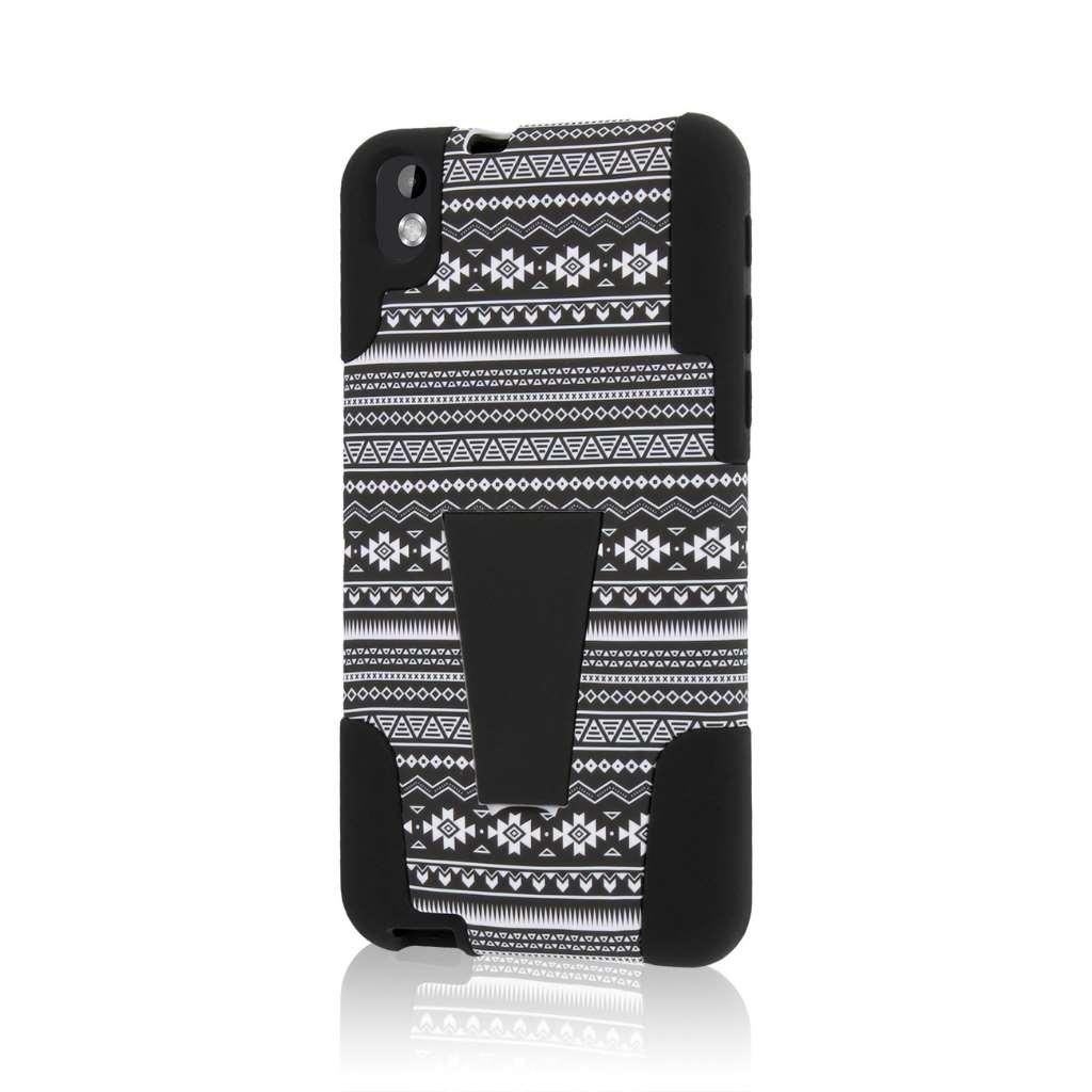 HTC Desire 816 - Black Aztec MPERO IMPACT X - Kickstand Case Cover