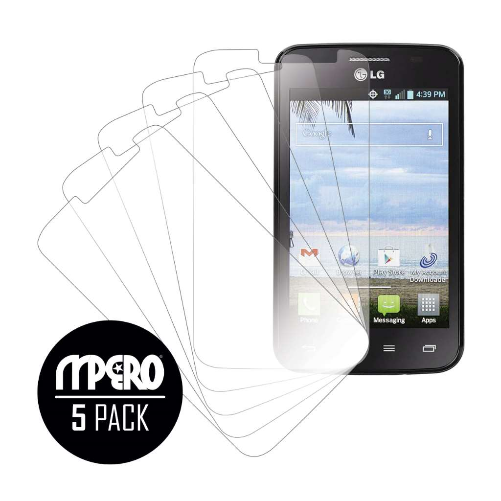 LG Optimus Dynamic 2 MPERO 5 Pack of Ultra Clear Screen Protectors