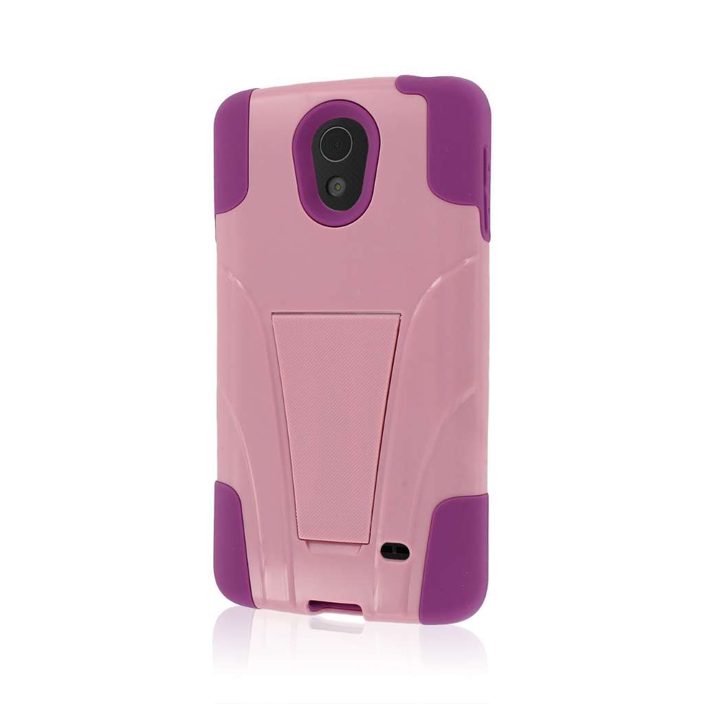 LG Lucid 3 - Pink MPERO IMPACT X - Kickstand Case Cover