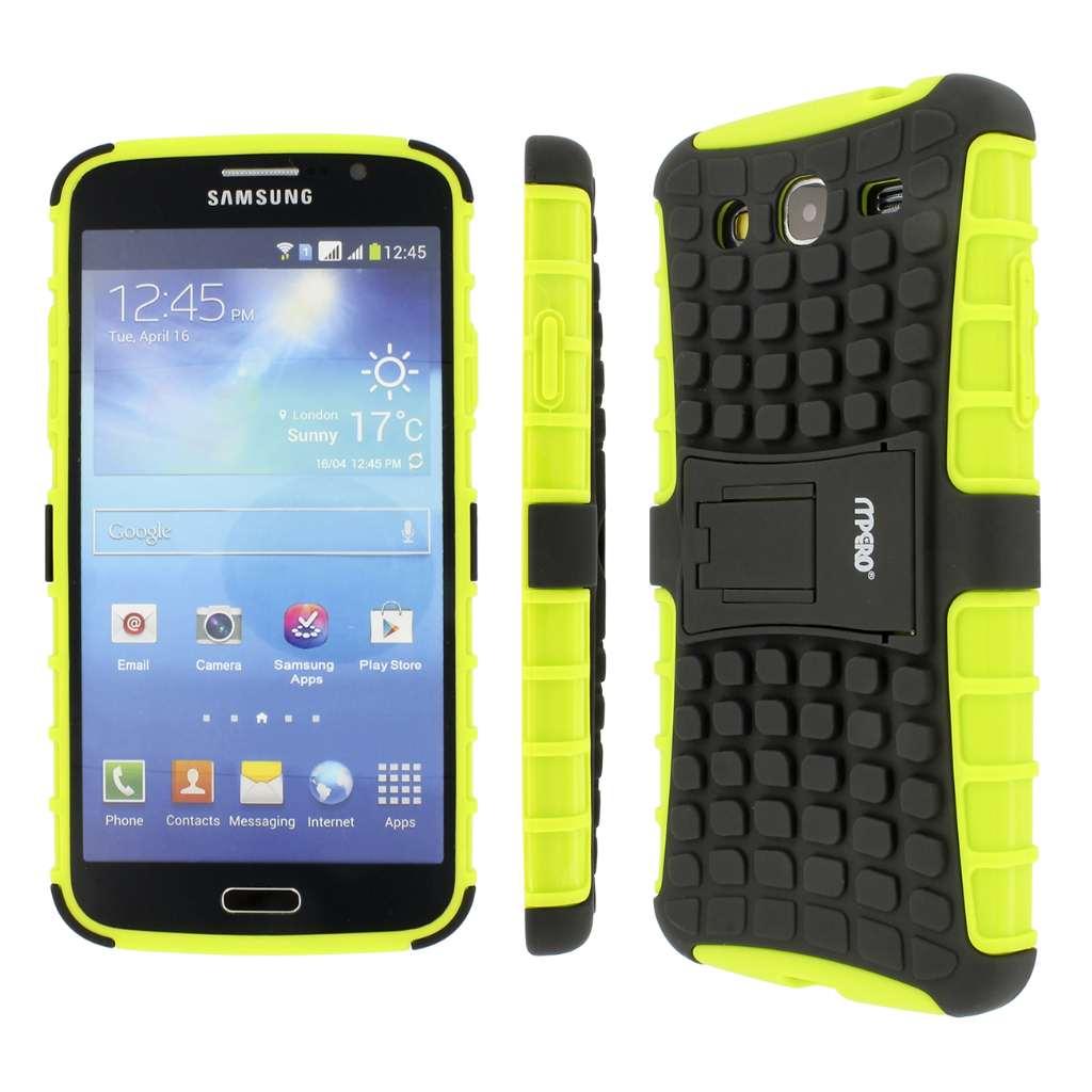 Samsung Galaxy Mega 5.8 - BLACK/NEON GREEN MPERO IMPACT SR - Kickstand Case