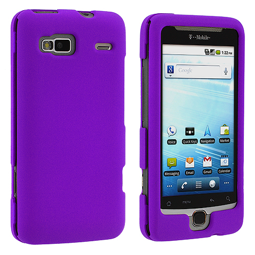 HTC G2 Vanguard Purple Hard Rubberized Case Cover