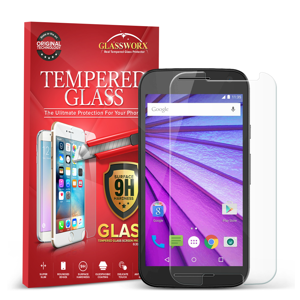 Motorola Moto G 3rd Gen 2015 GlassWorX HD Clear Tempered Glass Screen Protector