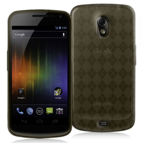 Samsung Droid Prime i515 Smoke Checkered TPU Rubber Skin Case Cover