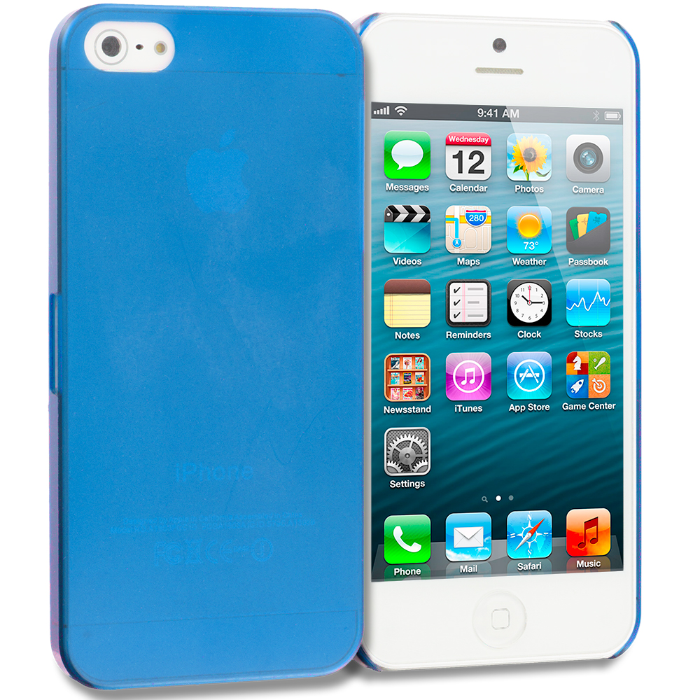 Apple iPhone 5/5S/SE Blue 0.3mm Crystal Hard Back Cover Case