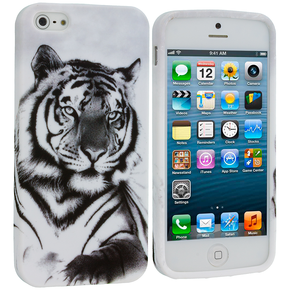 Apple iPhone 5/5S/SE Tiger TPU Design Soft Case Cover