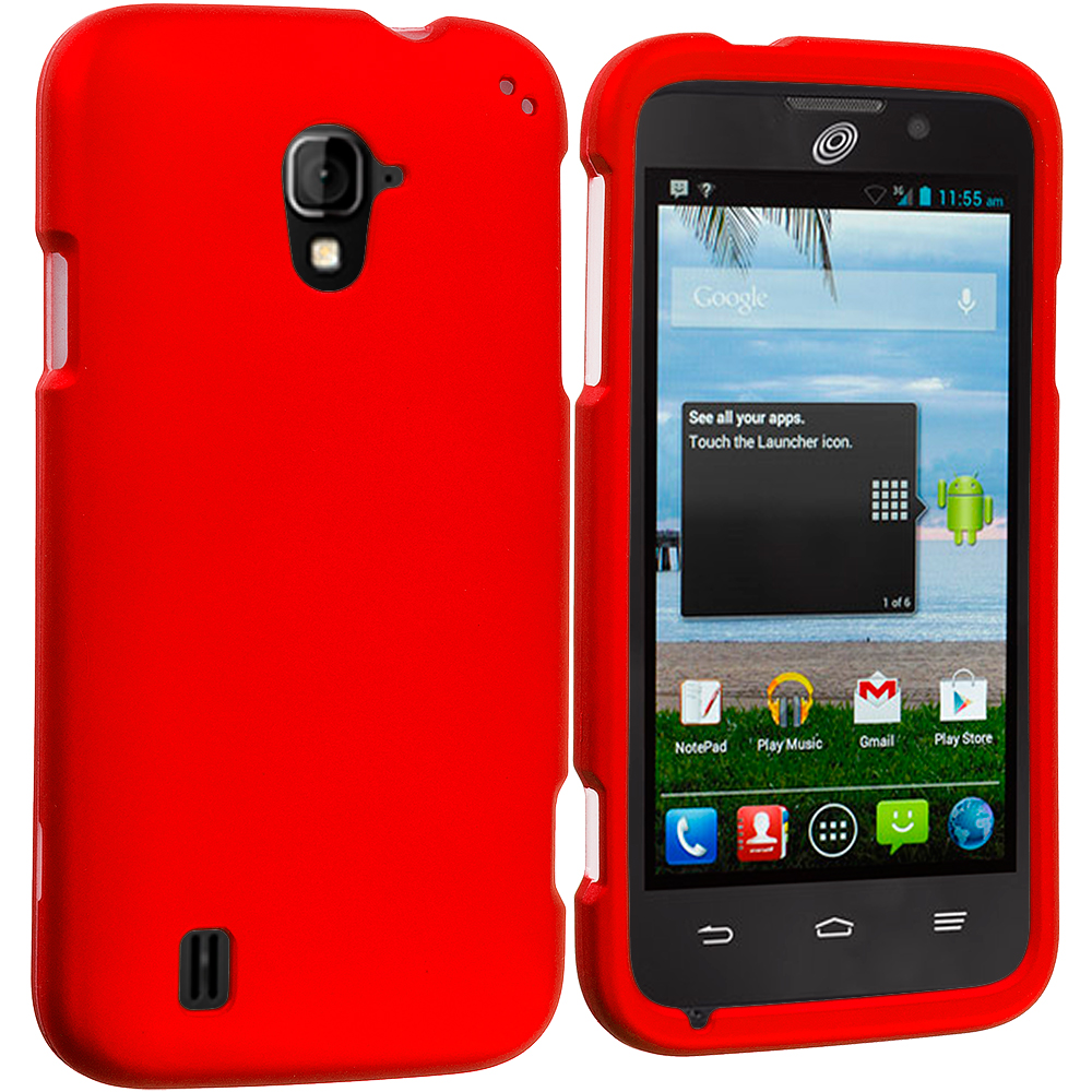 ZTE Majesty Z796C Orange Hard Rubberized Case Cover