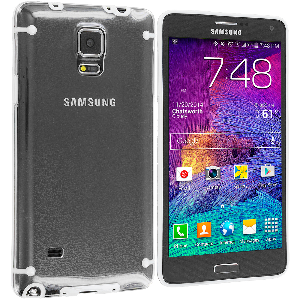 Samsung Galaxy Note 4 White Crystal Robot Hard Case Cover