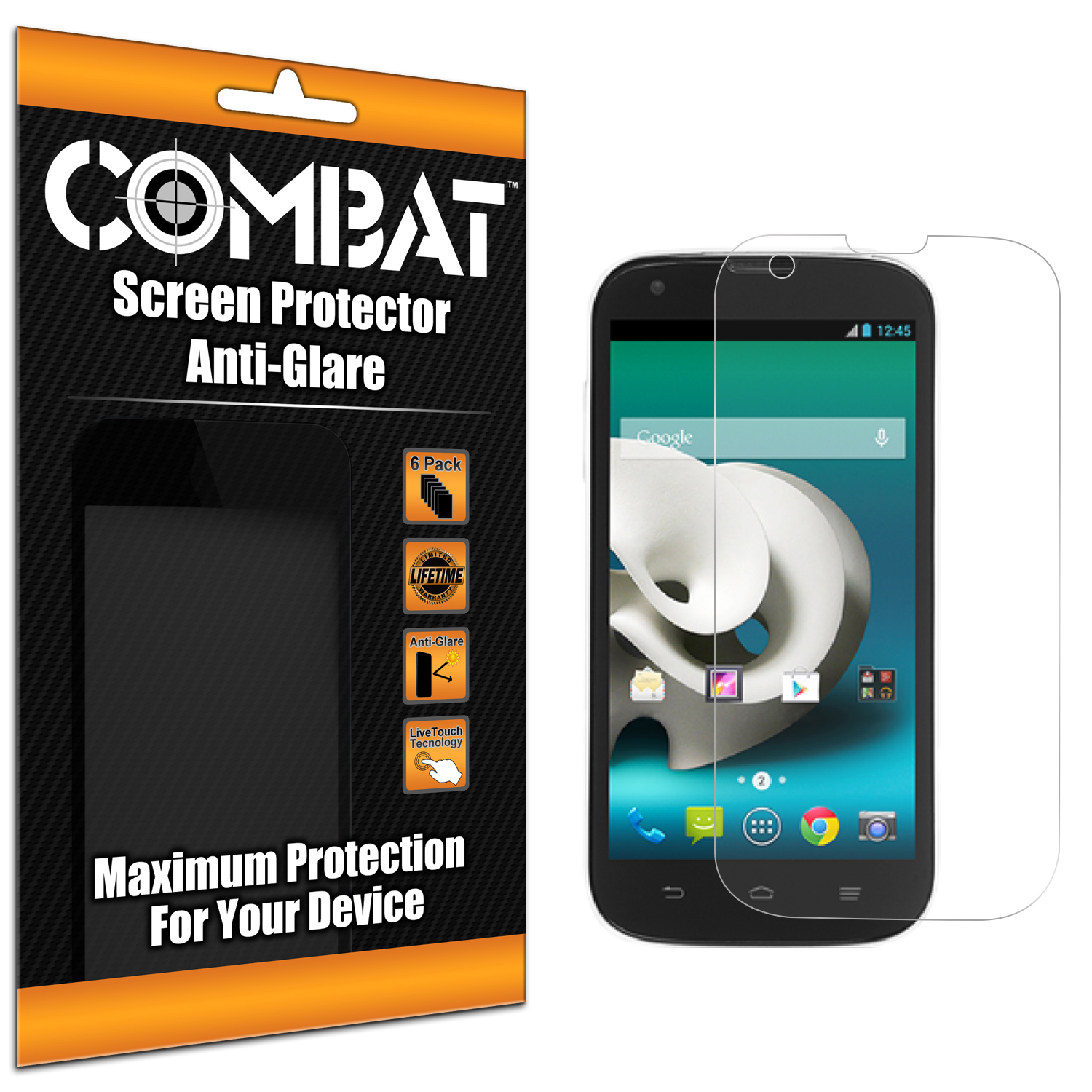 ZTE Grand X Z777 Combat 6 Pack Anti-Glare Matte Screen Protector
