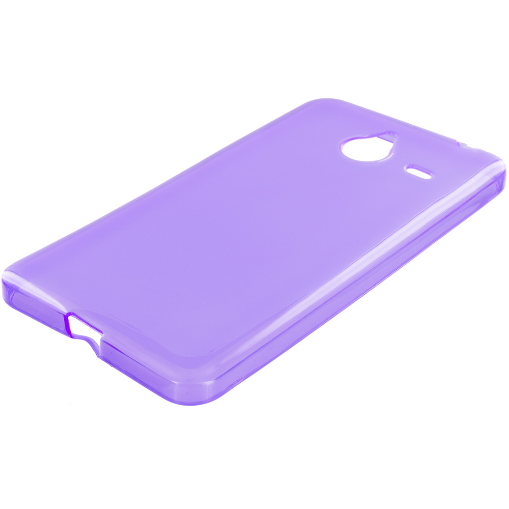 Microsoft Lumia 640 XL Purple TPU Rubber Skin Case Cover