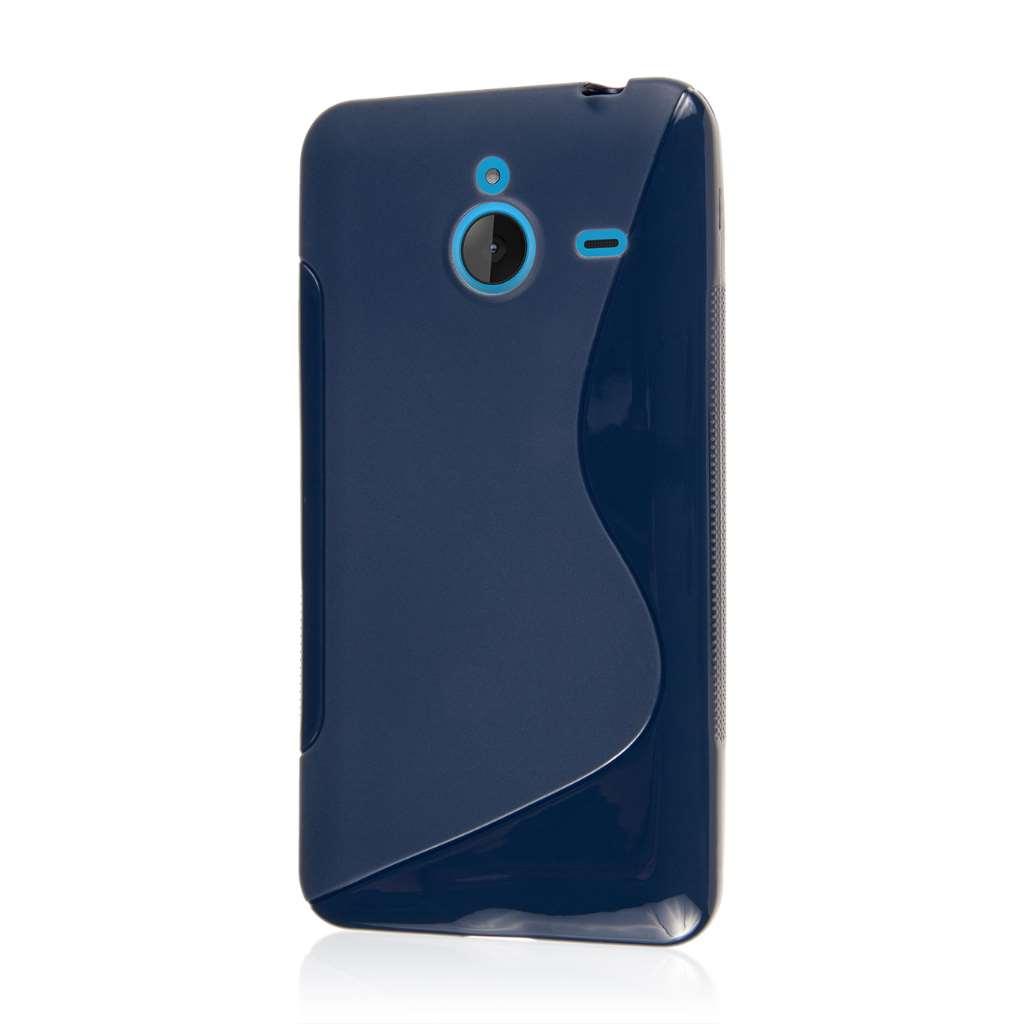 Nokia Lumia 640 XL - Navy Blue MPERO FLEX S - Protective Case Cover