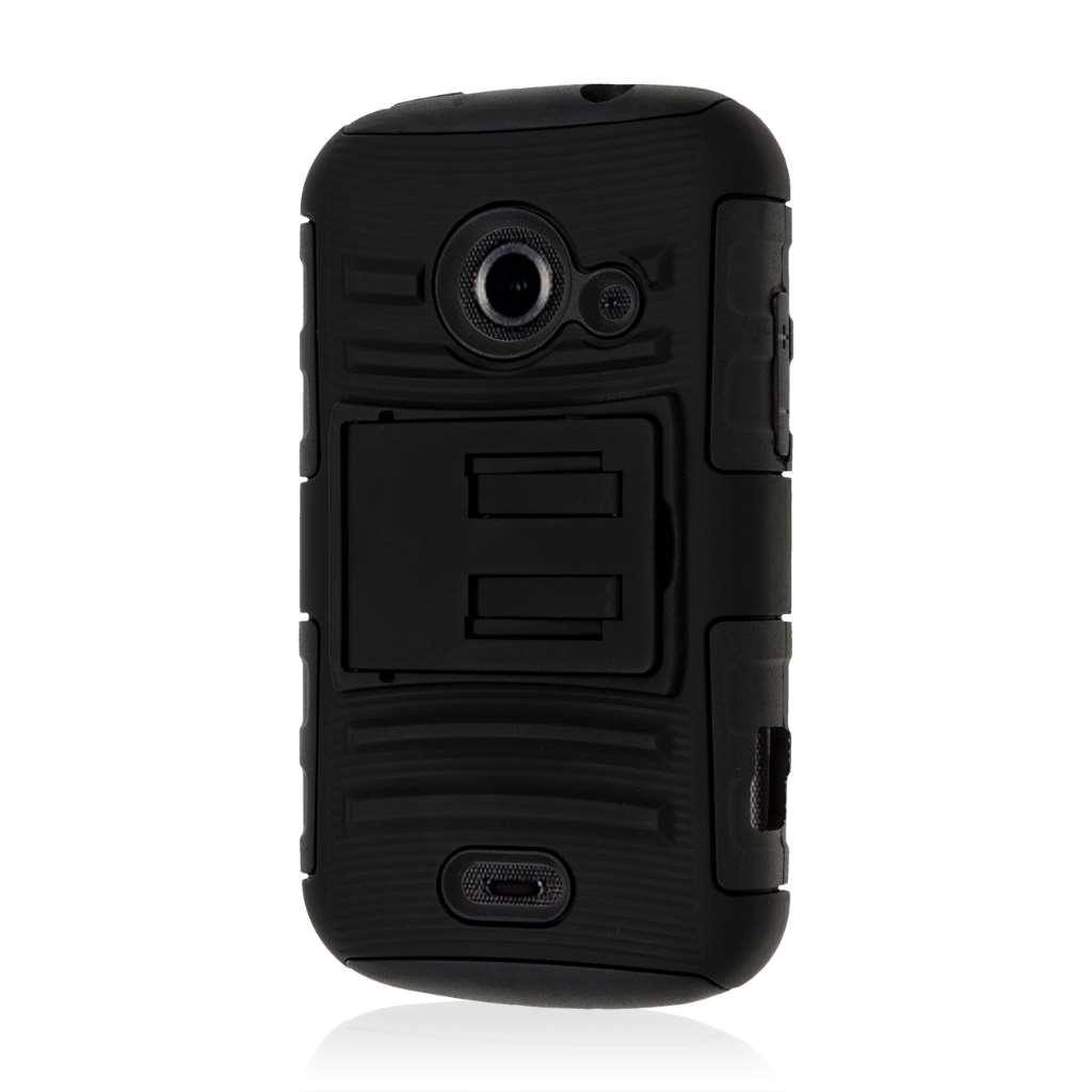 ZTE Prelude 2 - Black MPERO IMPACT XT - Kickstand Case Cover