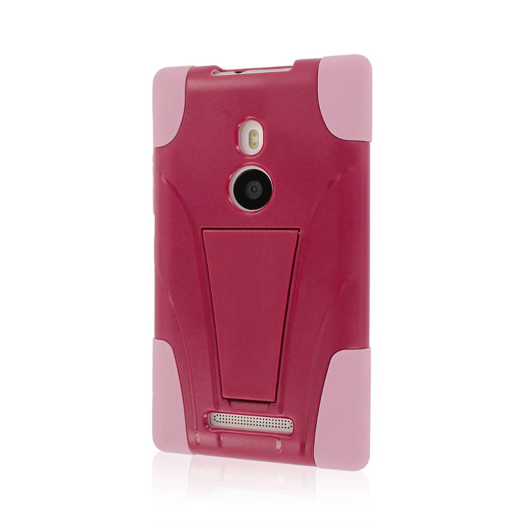Nokia Lumia 925 - Hot Pink / Pink MPERO IMPACT X - Kickstand Case Cover