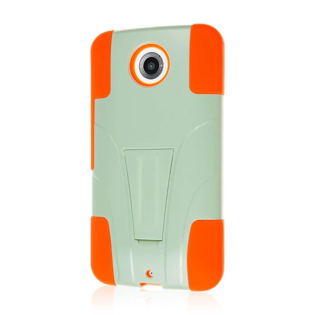Google Nexus 6 - Coral / Mint MPERO IMPACT X - Kickstand Case Cover