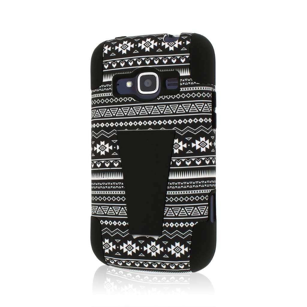 ZTE Concord 2 - Black Aztec MPERO IMPACT X - Kickstand Case Cover