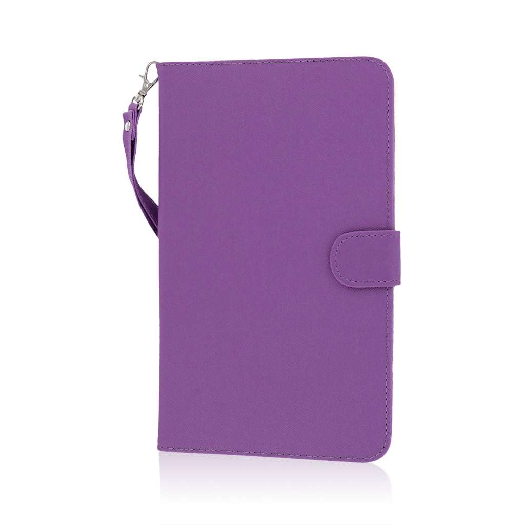 Samsung Galaxy Tab 4 8.0 - Purple MPERO FLEX FLIP Wallet Case Cover