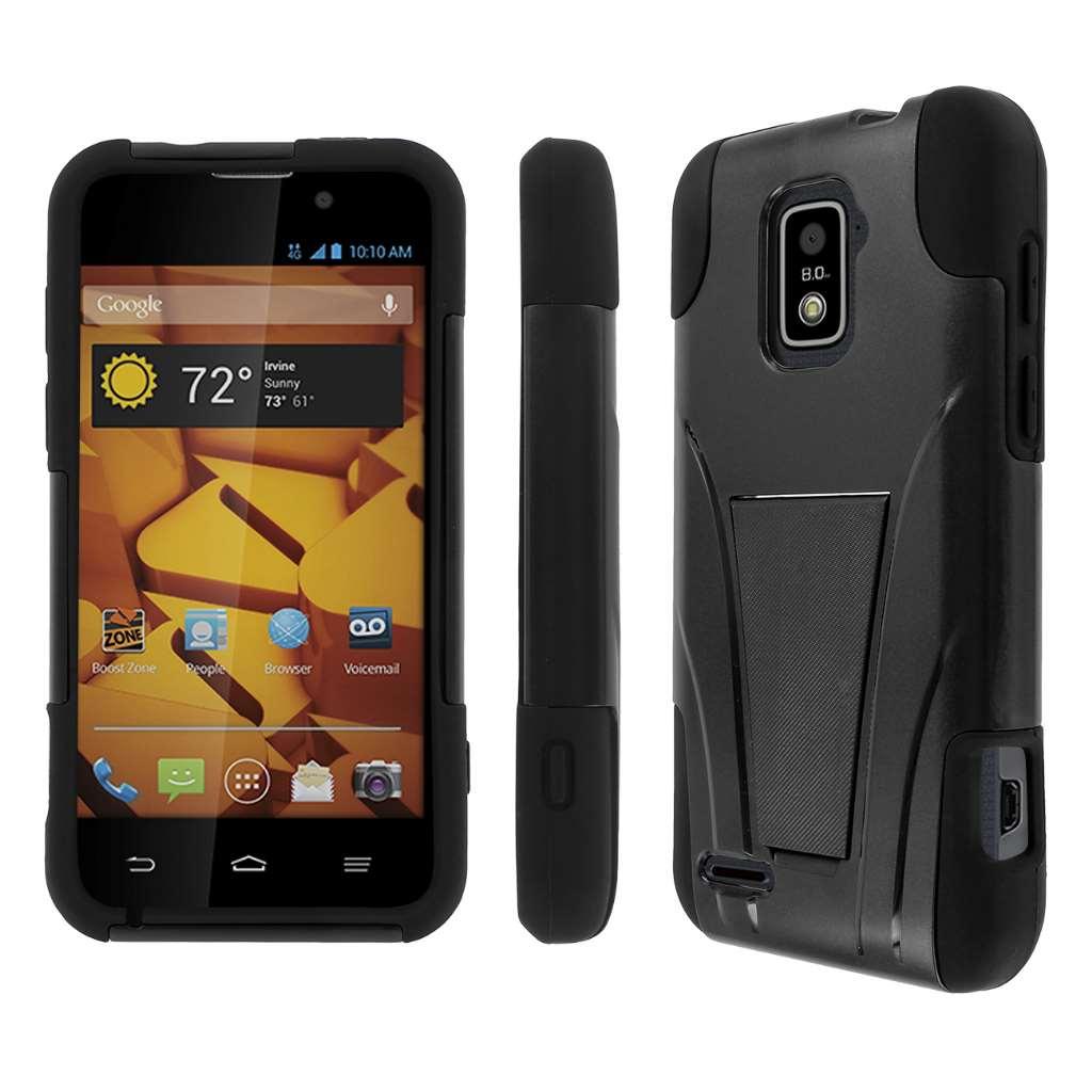 ZTE Warp 4G- BLACK MPERO IMPACT X - Kickstand Case Cover