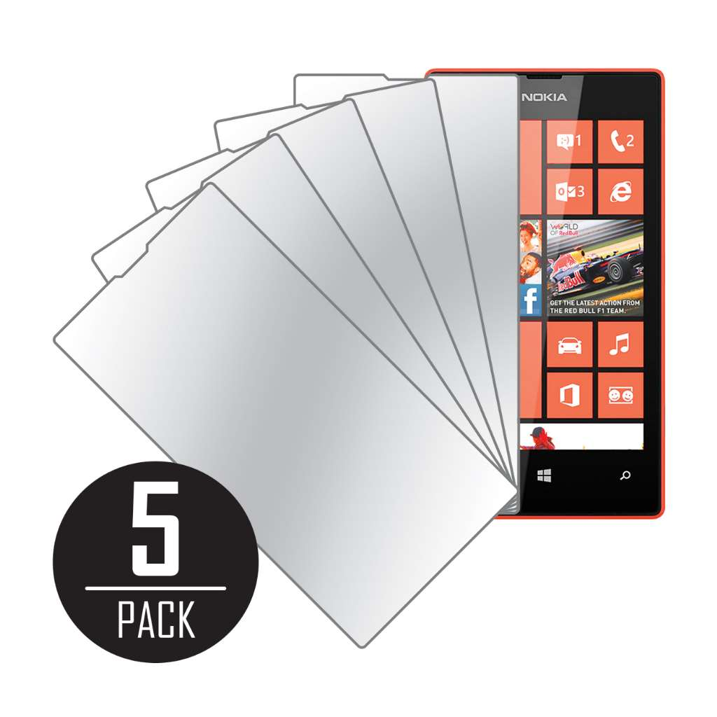 Nokia Lumia 525 MPERO 5 Pack of Mirror Screen Protectors