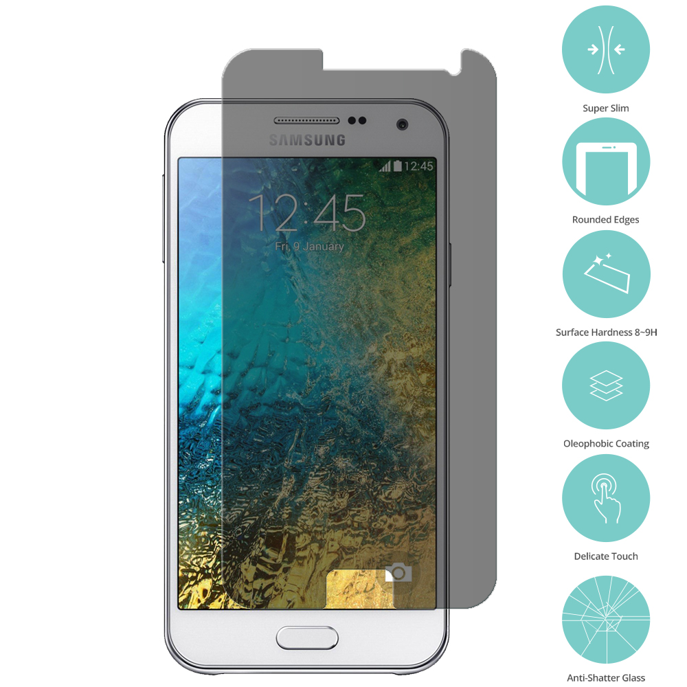 Samsung Galaxy E5 S978L Privacy Tempered Glass Film Screen Protector