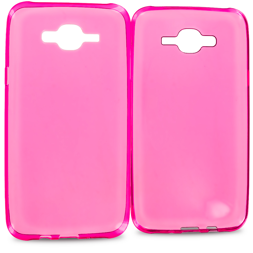 Samsung Galaxy J7 Hot Pink TPU Rubber Skin Case Cover