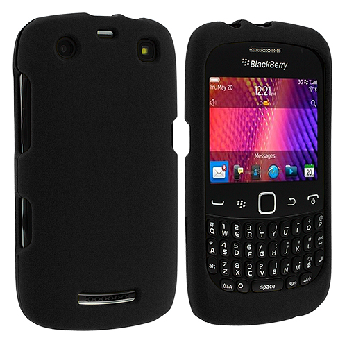 BlackBerry Curve 9350 9360 9370 Black Hard Rubberized Case Cover