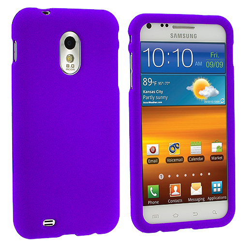 Samsung Epic Touch 4G D710 Sprint Galaxy S2 Purple Hard Rubberized Case Cover