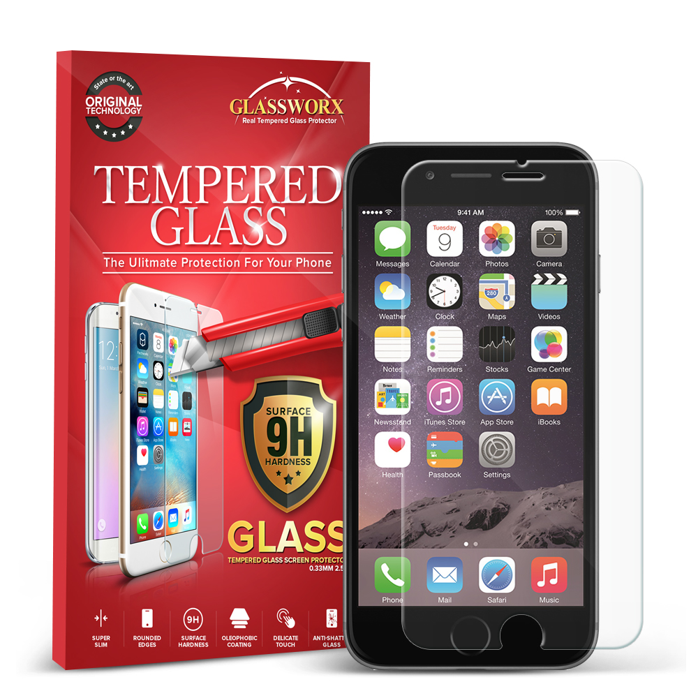 Apple iPhone 6 6S (4.7) GlassWorX HD Clear Tempered Glass Screen Protector