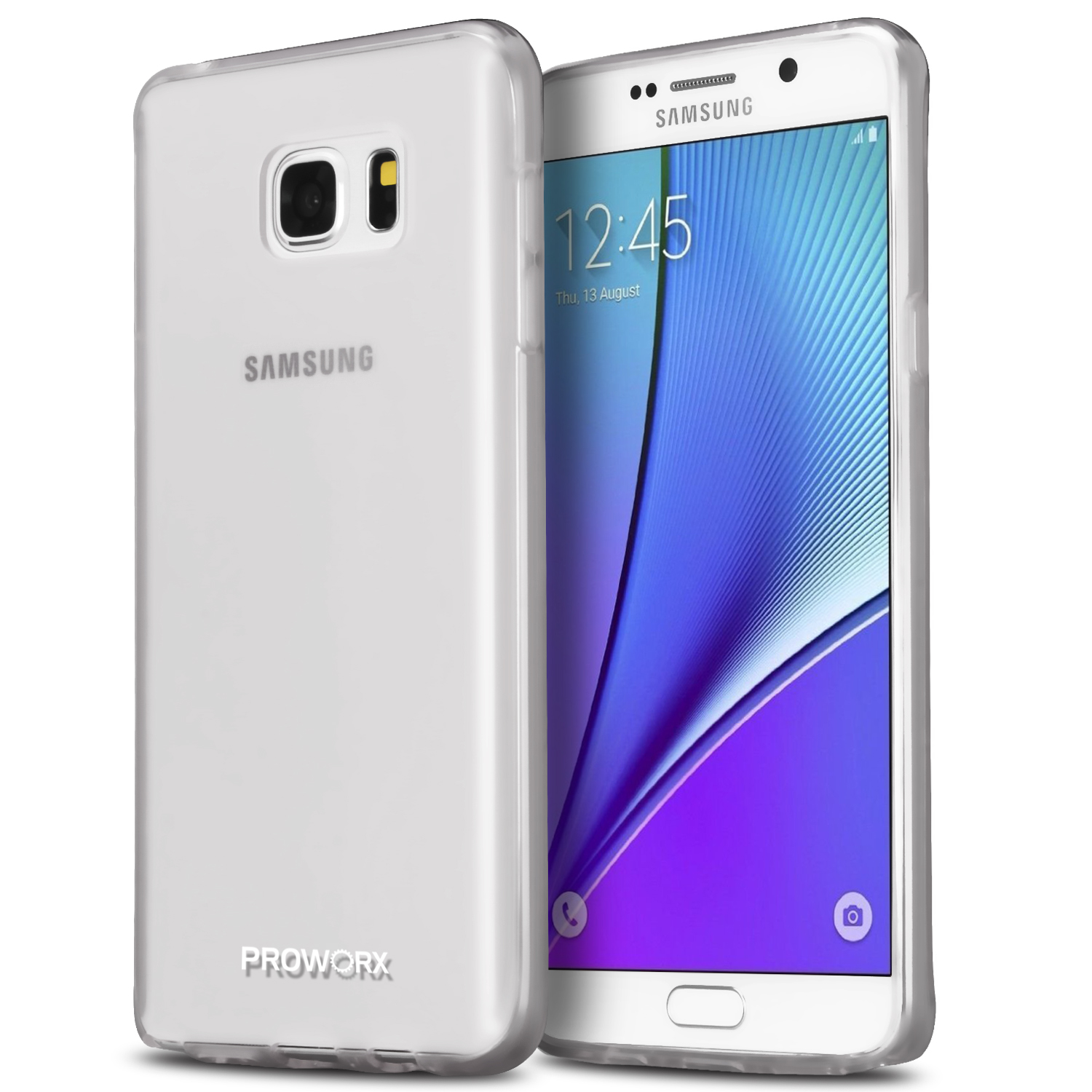 Samsung Galaxy Note 5 Clear ProWorx Ultra Slim Thin Scratch Resistant TPU Silicone Case Cover