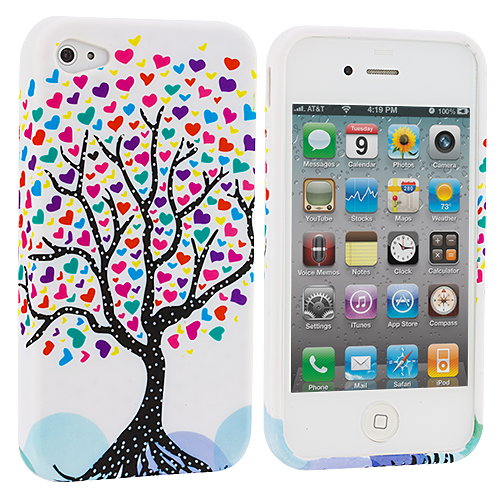 Apple iPhone 4 / 4S Love Tree TPU Rubber Skin Case Cover