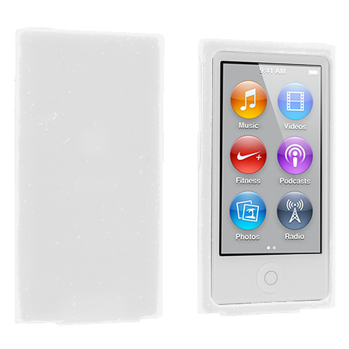 Apple iPod Nano 7th Generation White Silicone Soft Skin Case Cover