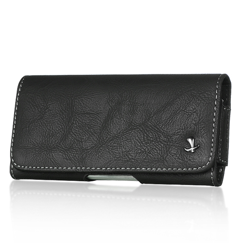 iPhone 5/5S/SE/5C Black Texture Leather Pouch