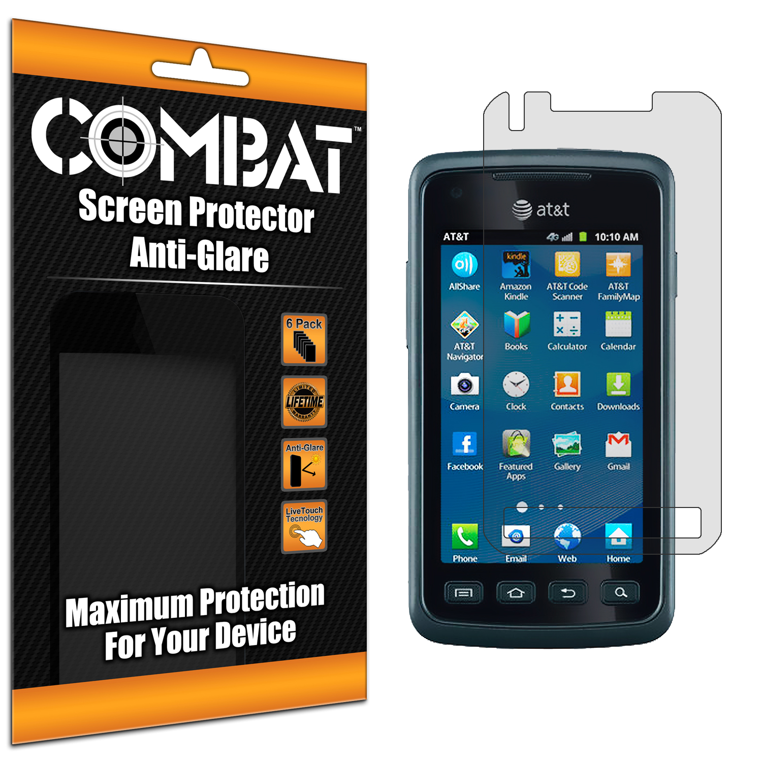 Samsung Rugby Smart i847 Combat 6 Pack Anti-Glare Matte Screen Protector