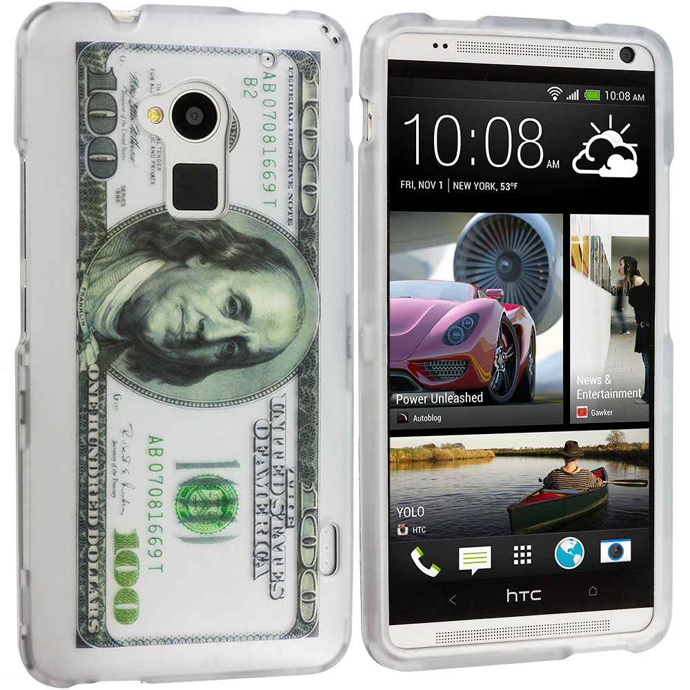 HTC One Max Hundred Dollars Hard Rubberized Design Case Cover