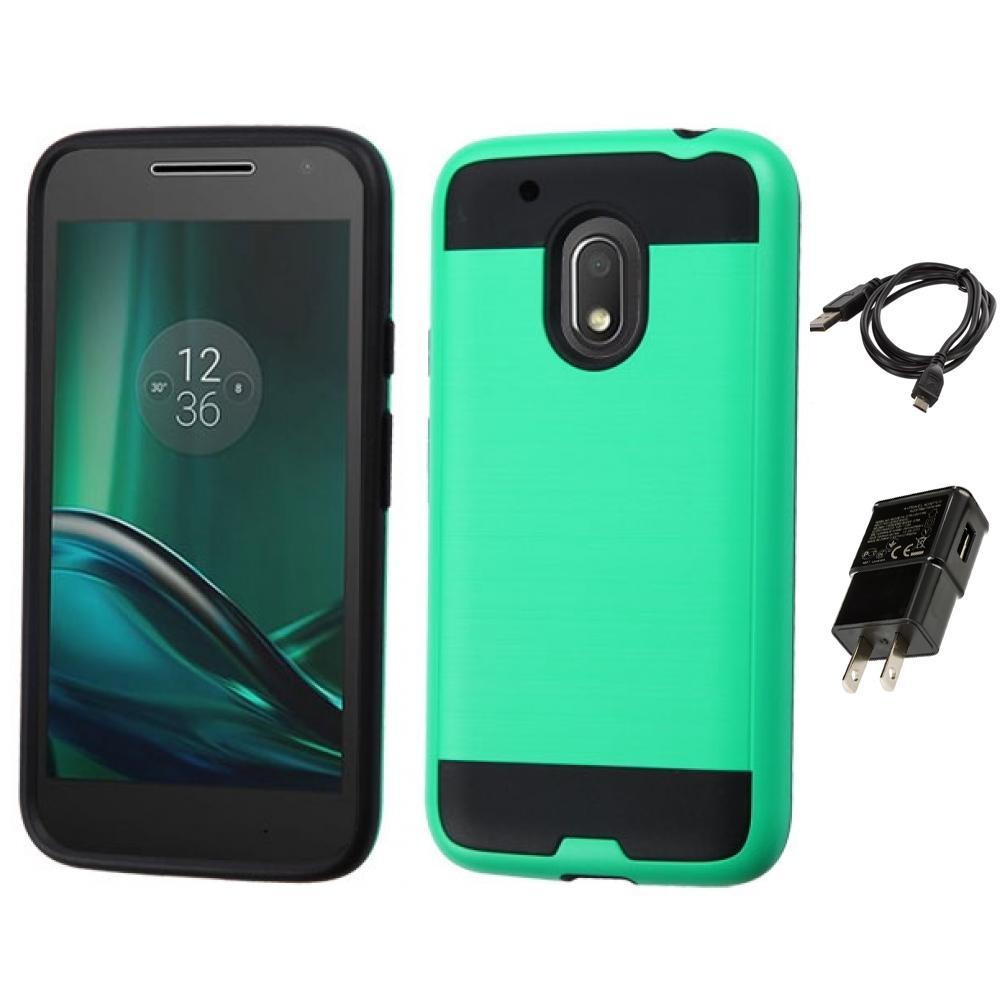 For Motorola Moto G4 Play Hybrid IMPACT Hard TUFF Hybrid Case Cover Charger | eBay