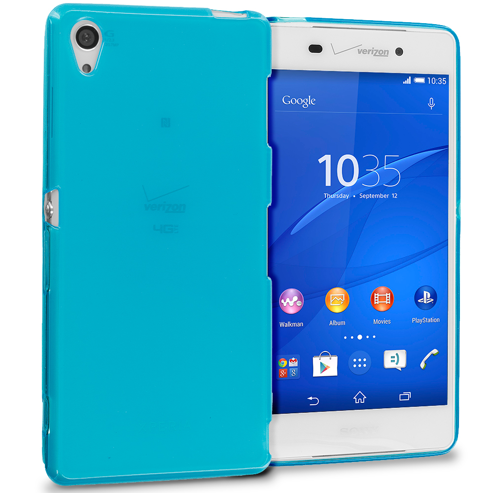 Sony Xperia Z3 Baby Blue TPU Rubber Skin Case Cover
