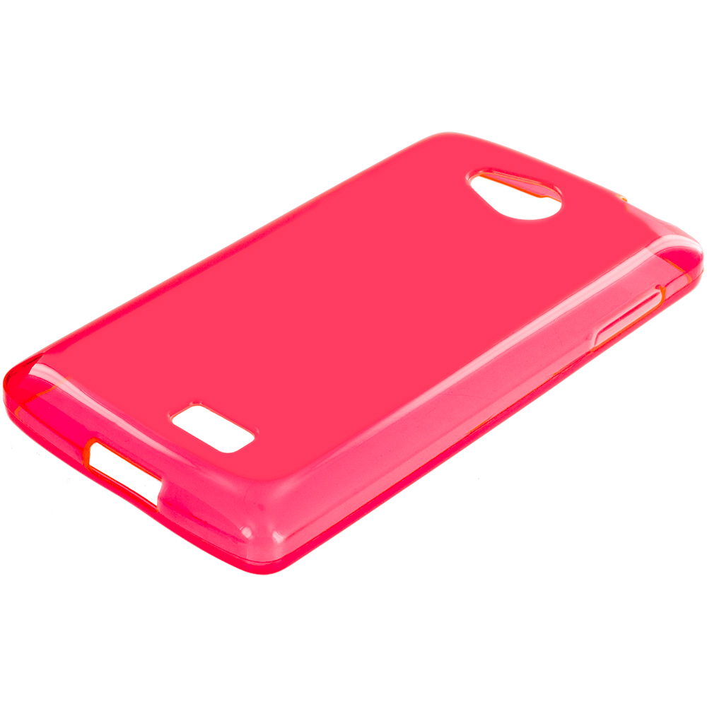LG Transpyre Tribute F60 Red TPU Rubber Skin Case Cover