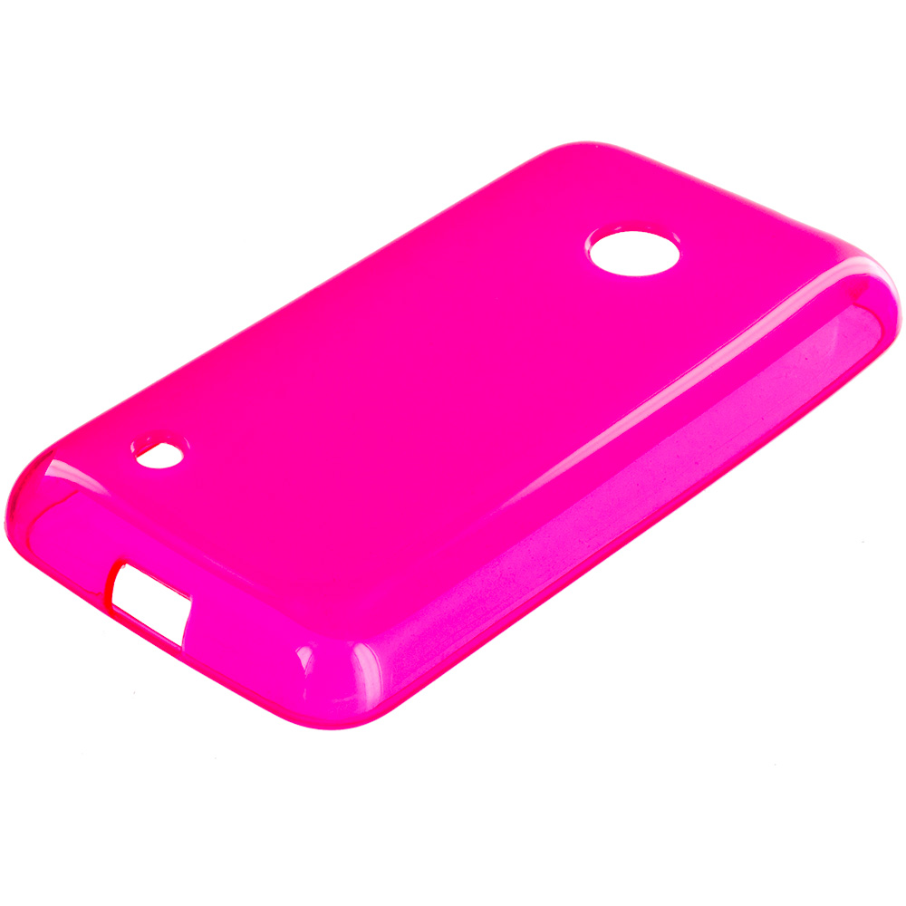 Nokia Lumia 530 Hot Pink TPU Rubber Skin Case Cover
