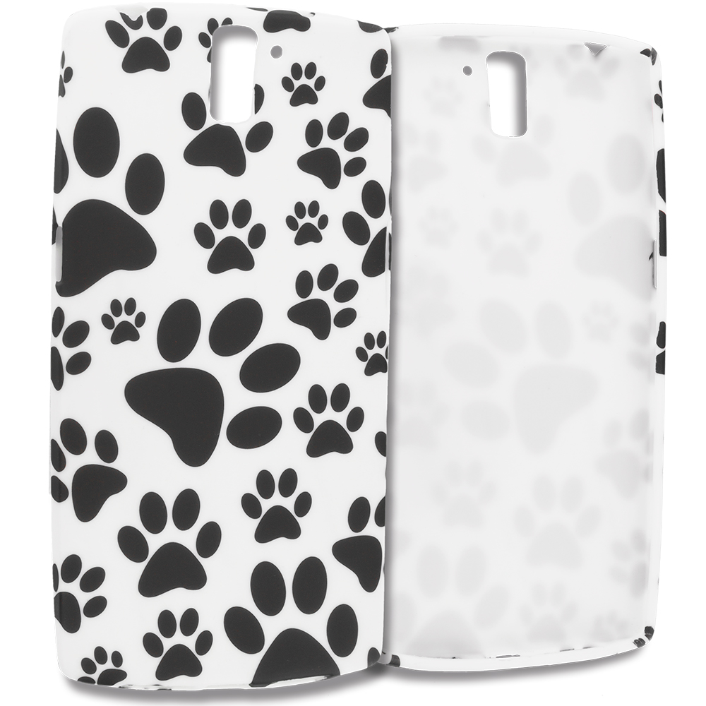 OnePlus One Dog Paw TPU Design Soft Rubber Case Cover