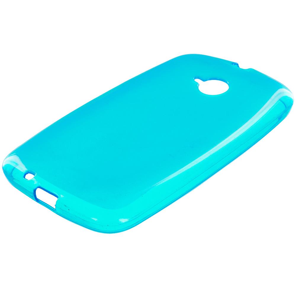Motorola Moto E LTE 2nd Generation Baby Blue TPU Rubber Skin Case Cover