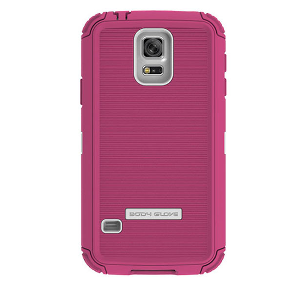 Galaxy S5 - Raspberry/White BodyGlove ToughSuit Case Cover
