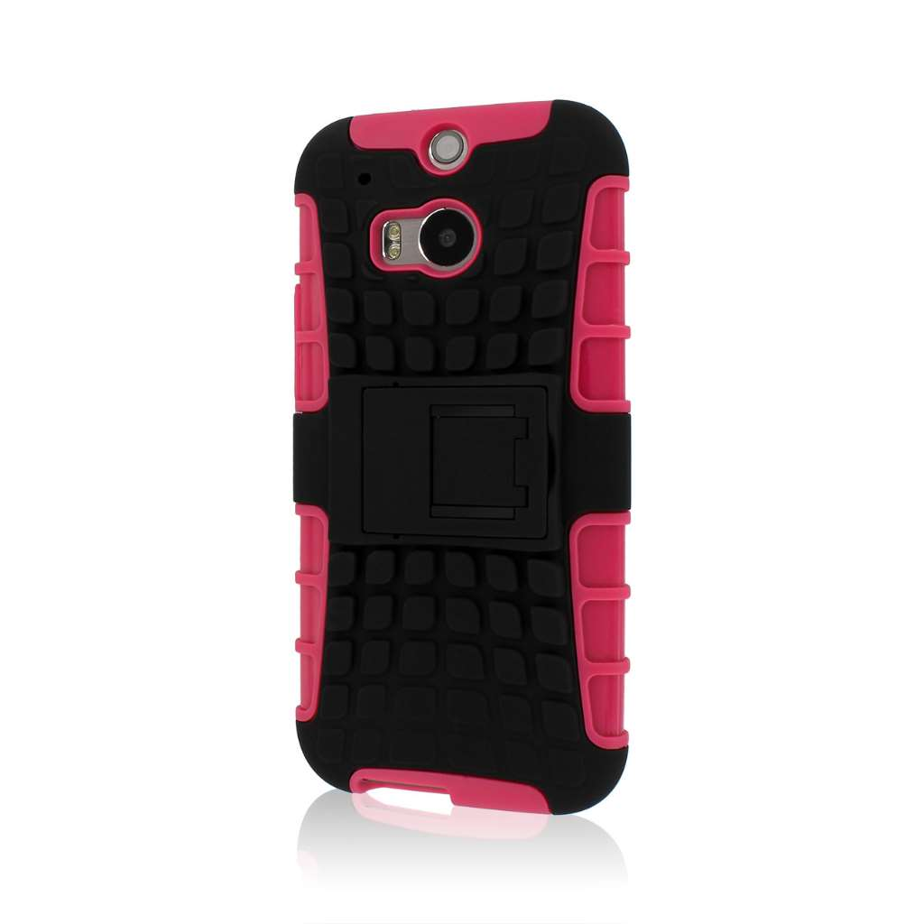 HTC One M8/ M8- HOT PINK MPERO IMPACT SR - Kickstand Case Cover