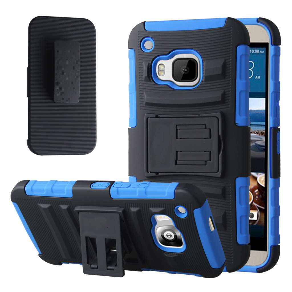 HTC One M9 - Blue MPERO IMPACT XT - Kickstand Case Cover