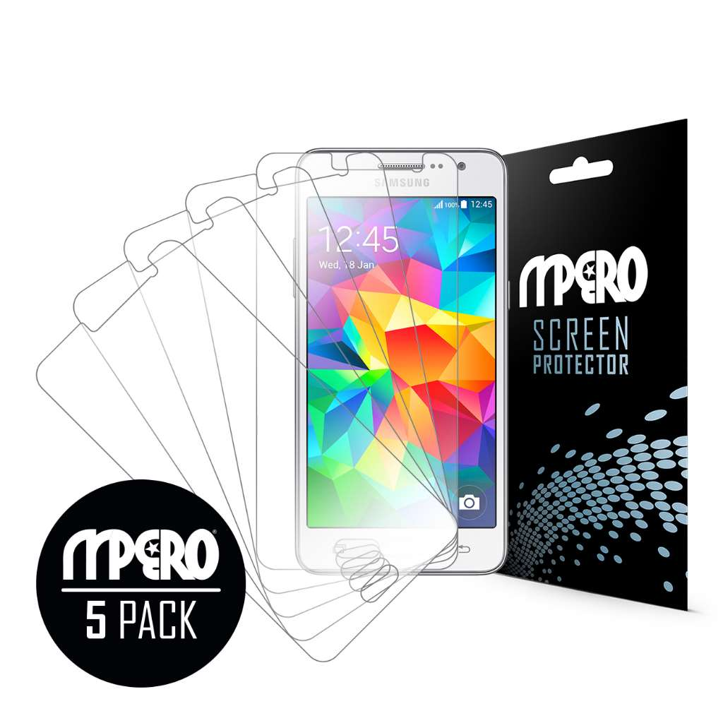 Samsung Galaxy Grand Prime MPERO 5 Pack of Ultra Clear Screen Protectors